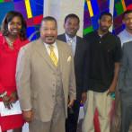Rev Mendez with SWM Scholars