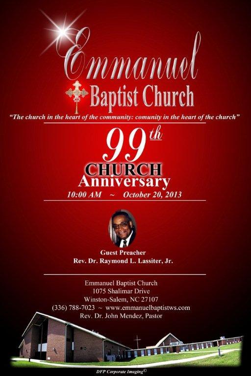 Church 99th Anniversary | Emmanuel Baptist Church